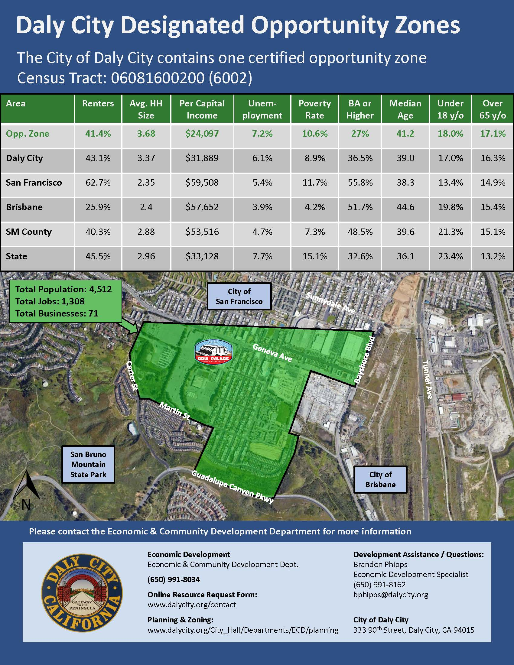 Daly City Designated Opportunity Zone (PDF)